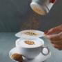 Kép 1/12 - Latte art barista sablon, kávé díszítő sablon