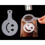 Kép 11/12 - Latte art barista sablon, kávé díszítő sablon
