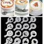 Kép 4/12 - Latte art barista sablon, kávé díszítő sablon