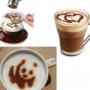 Kép 8/12 - Latte art barista sablon, kávé díszítő sablon