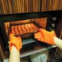 Kép 1/8 - Sütőkesztyű, konyhai edényfogó kesztyű, szilikon hőálló kesztyű 1 db