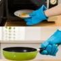 Kép 3/8 - Sütőkesztyű, konyhai edényfogó kesztyű, szilikon hőálló kesztyű 1 db