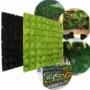 Kép 1/5 - 72 zsebes falra akasztható virágtartó