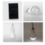 Kép 4/8 - Hordozható napelemes LED villanykörte 15w 130 LM