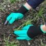 Kép 1/8 - Kesztyű kertészkedéshez ásókarmokkal