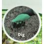 Kép 6/8 - Kesztyű kertészkedéshez ásókarmokkal