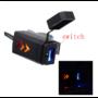 Kép 1/7 - Motor kormányra szerelhető vízálló USB töltő