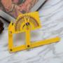 Kép 1/9 - Professzionális szögmérő vonalzóval