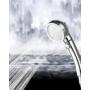 Kép 5/5 - Zuhanyfej, zuhanyrózsa 3 üzemmóddal Ezüst színű