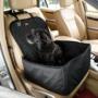 Kép 1/2 - Autós kutyaülés (víz- és portaszító anyagból) Fekete