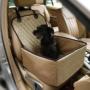 Kép 1/2 - Autós kutyaülés (víz- és portaszító anyagból) Bézs