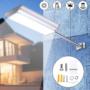 Kép 3/5 - Novion 70-es LED-es napelemes fali utcalámpa 5 világítási móddal, mozgásérzékelővel