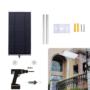 Kép 5/5 - Novion 70-es LED-es napelemes fali utcalámpa 5 világítási móddal, mozgásérzékelővel