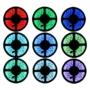 Kép 1/9 - 5 méter RGB színes LED szalag, LED fénysor, Ledsor, ledszalag távirányítóval, kapcsolható színekkel, adapterrel