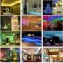 Kép 6/9 - 5 méter RGB színes LED szalag, LED fénysor, Ledsor, ledszalag távirányítóval, kapcsolható színekkel, adapterrel