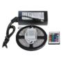 Kép 8/9 - 5 méter RGB színes LED szalag, LED fénysor, Ledsor, ledszalag távirányítóval, kapcsolható színekkel, adapterrel