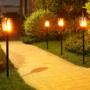 Kép 10/14 - Kültéri lámpa, fáklya állólámpa, díszvilágítás (napelemes)