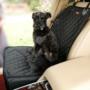 Kép 2/2 - Autós kutyaülés (víz- és portaszító anyagból) Fekete