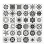 Kép 3/6 - Mandala stencil, rajzsablon 36 db