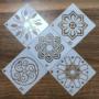 Kép 4/6 - Mandala stencil, rajzsablon 36 db