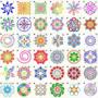 Kép 2/6 - Mandala stencil, rajzsablon 36 db