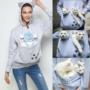 Kép 2/2 - Macskahordozó, cicahordozó pulcsi, macskás pulóver, cicás pulcsi L