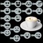Kép 4/4 - Cappuccino és kávé díszítő Emoji sablonok (16db)